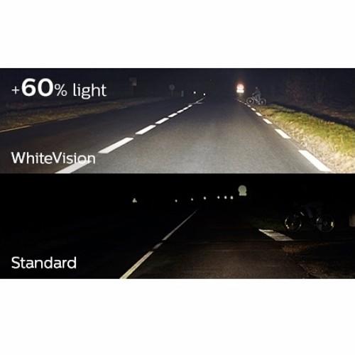 Philips White Vision H4 60/55 Watt - Lampu Mobil Putih 4300K Terang