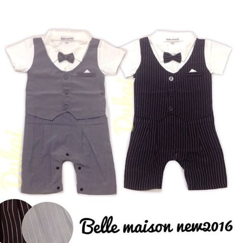 harga Tuxedo romper rompi belle maison garis anak bayi baby Tokopedia.com