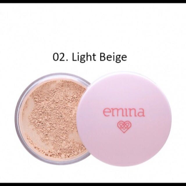 Emina Bare With Me Mineral Loose Powder Light Beige 8g .