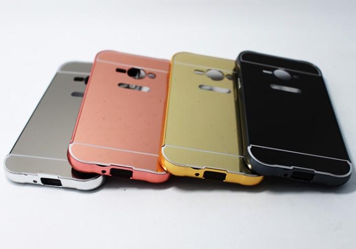 Samsung Galaxy V G313 Ace 4 Luxury Aluminum Bumper Mirror Hard Case