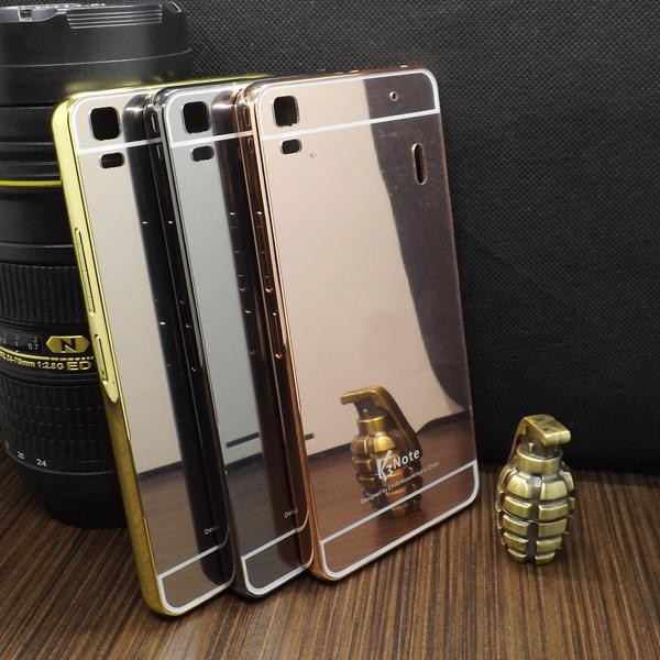 ... Case Lenovo A7000 Alumunium bumper with mirror backdoor slide