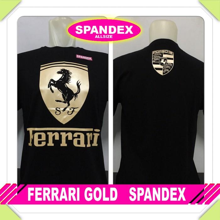 harga Kaos ferrari gold spandex Tokopedia.com