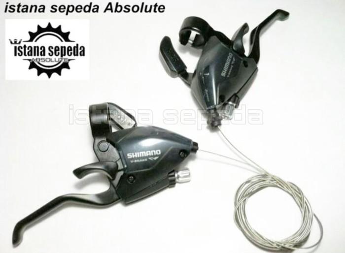 Jual New Shifter Sepeda MTB Shimano EF51 Black 3 x 7 Speed