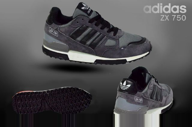 new product 177c0 cf17c Jual Sepatu Adidas ZX 750 Grey Lis Black Pria Sporty Jalan Santai -  Ranggono | Tokopedia