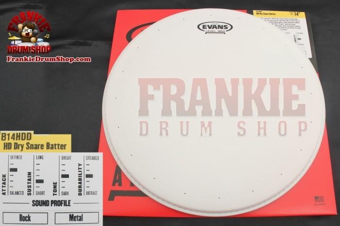 "Foto Produk Drumhead Evans B14HDD - 14"" Genera Hd-Dry White Coated Snare Batter dari FrankieDrumShop"