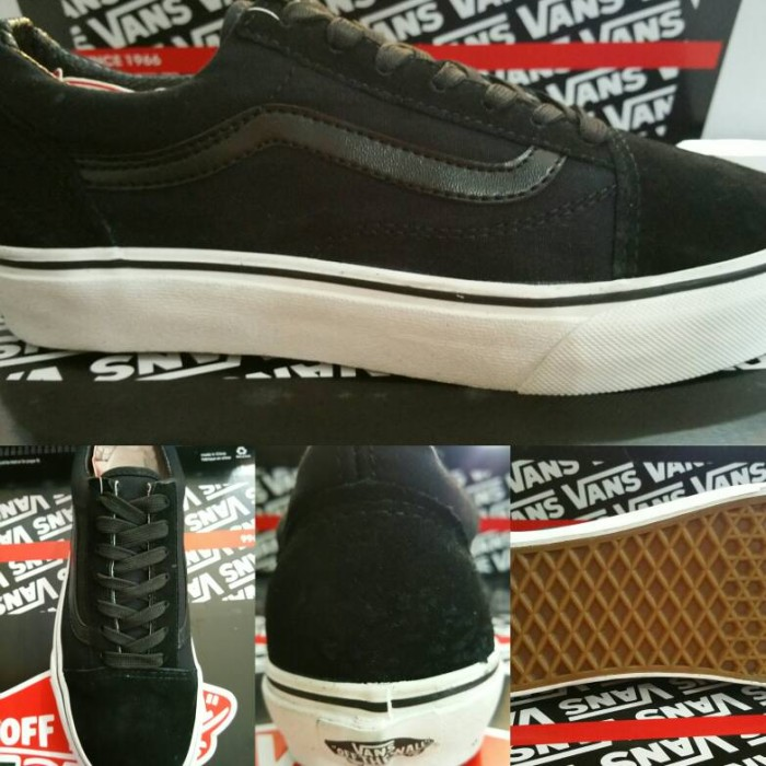 196e380757172f ... harga Sepatu skate vans oldskool classics black dope Tokopedia.com