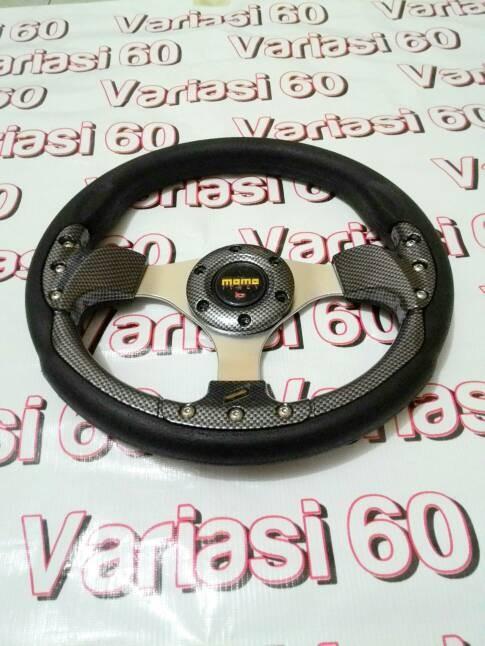 harga Stir racing momo hitam carbon 13 in Tokopedia.com