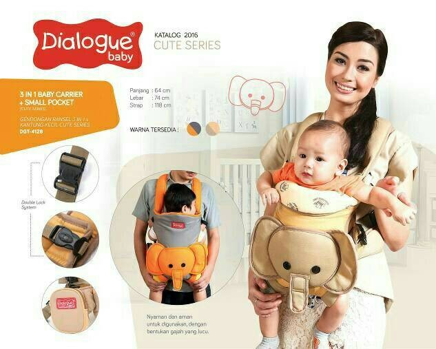 harga Gendongan ransel 2in1 baby carrier + waist belt dialogue dgg 4128 Tokopedia.com