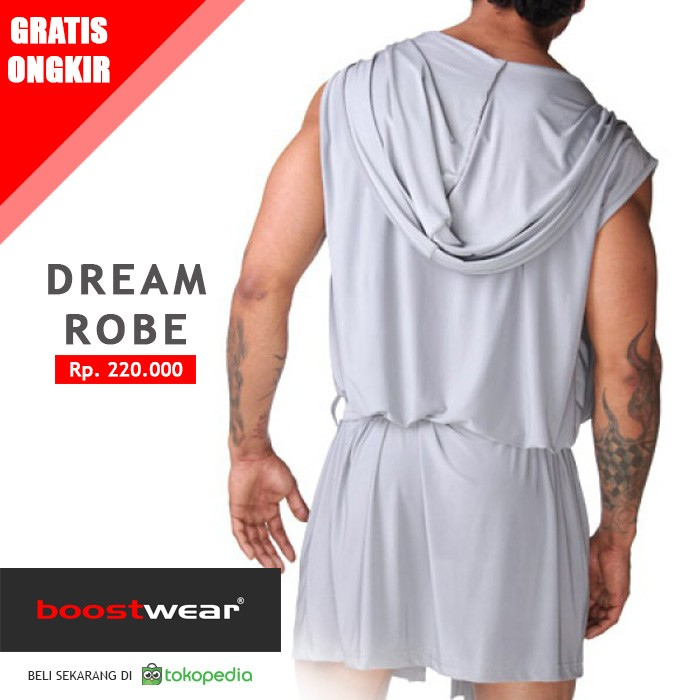 Jual Baju Tidur Pria Tipe Jubah Mimpi Abu Abu Boostwear