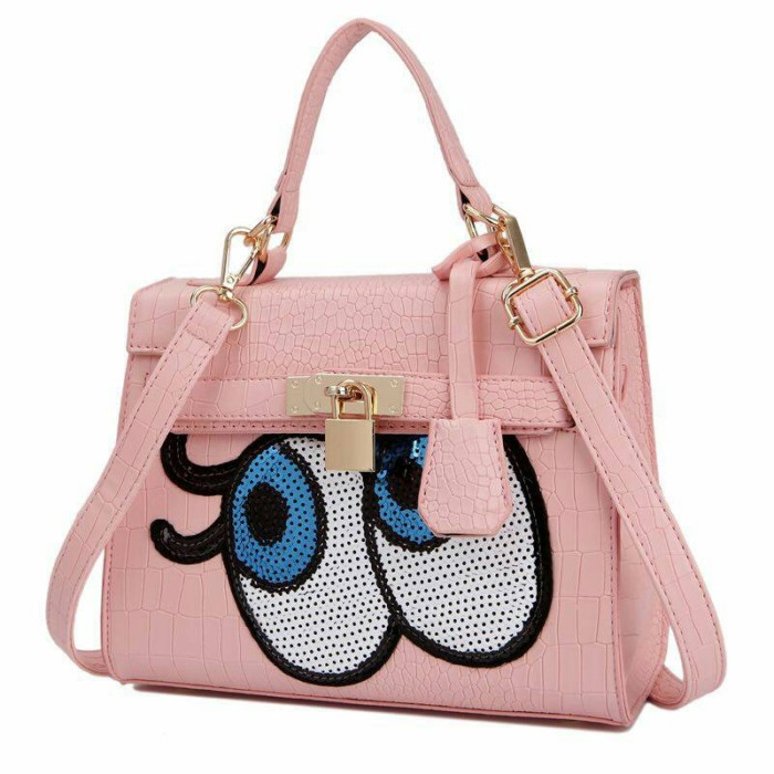 Jual Tas Hermes Kelly Eyes Eye mata pink Import Korea - OkaShop ... 49266b3e1b