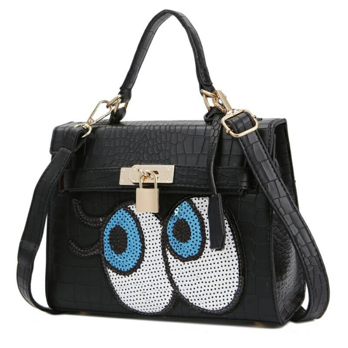 Jual Tas Hermes Kelly Eyes Eye mata hitam black Import Korea ... de0eb63f8d