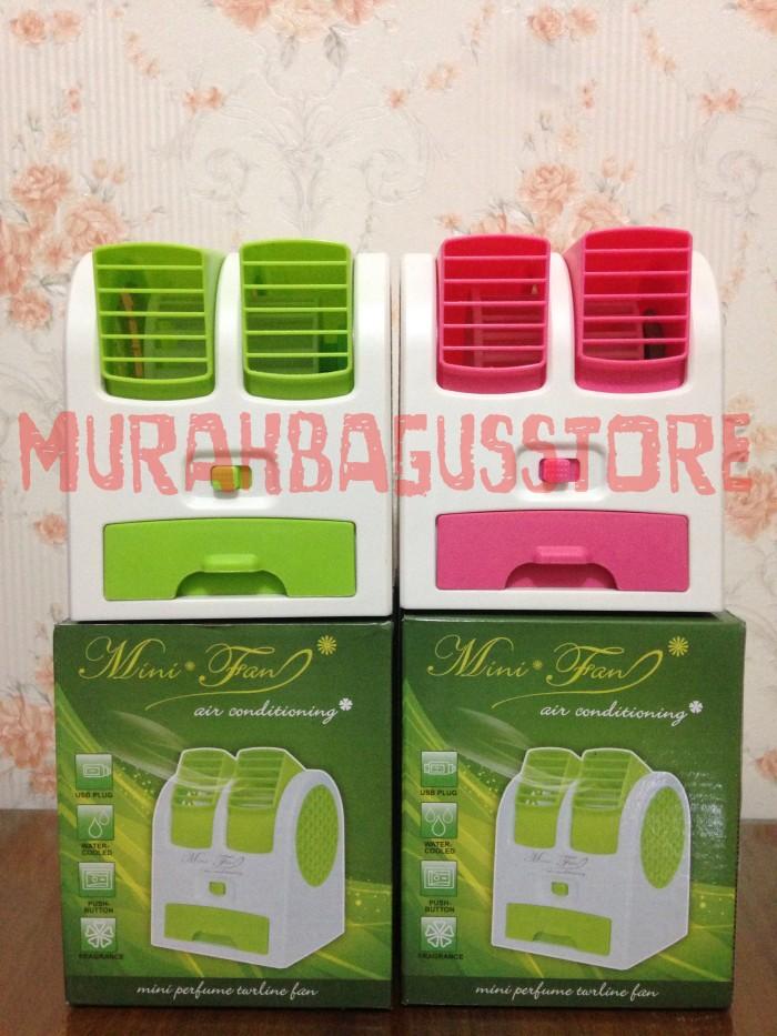 harga Double window kipas angin duduk / meja / usb / mini handheld ac murah Tokopedia.com