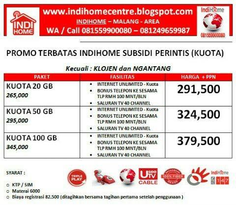 Jual Promo Indihome Subsidi Kota Malang Indihome Malang Tokopedia