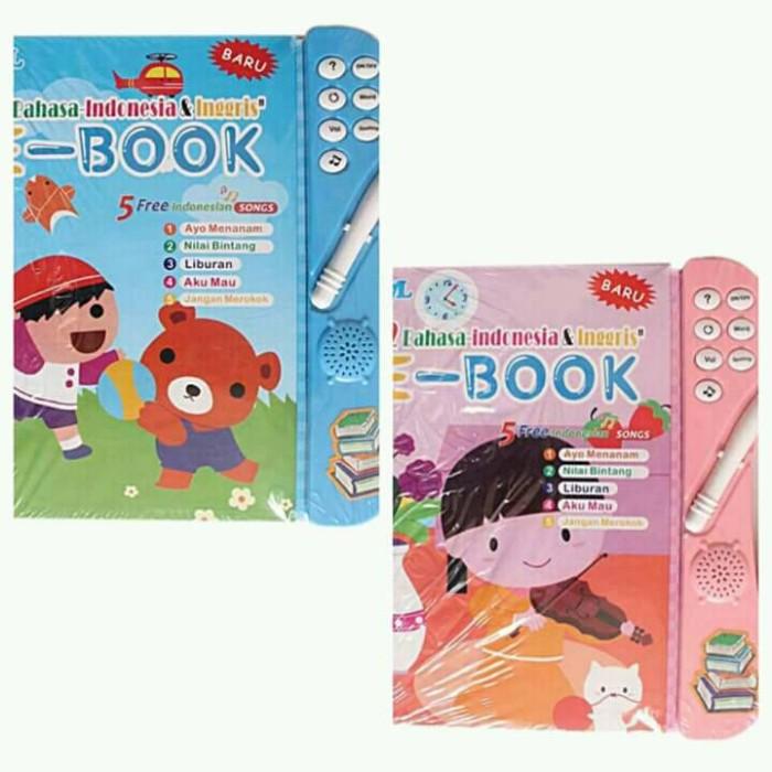 Eigia Led E Book 2 Bahasa Indonesia & Inggris Mainan Edukasi 7l Pink Source · Mainan