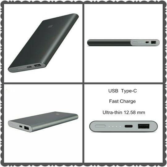 Original Xiaomi Powerbank / Power Bank 10000mAh / 10000 mAh Pro Grey - Abu - abu