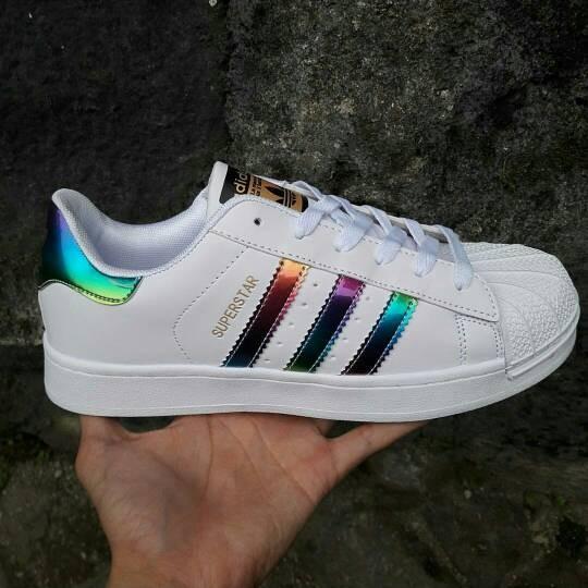 adidas superstar holographic rainbow