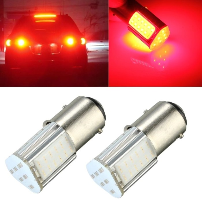 harga Lampu rem mobil motor 1157 led cob 4 sisi 7w bayonet kaki 2 merah Tokopedia.com