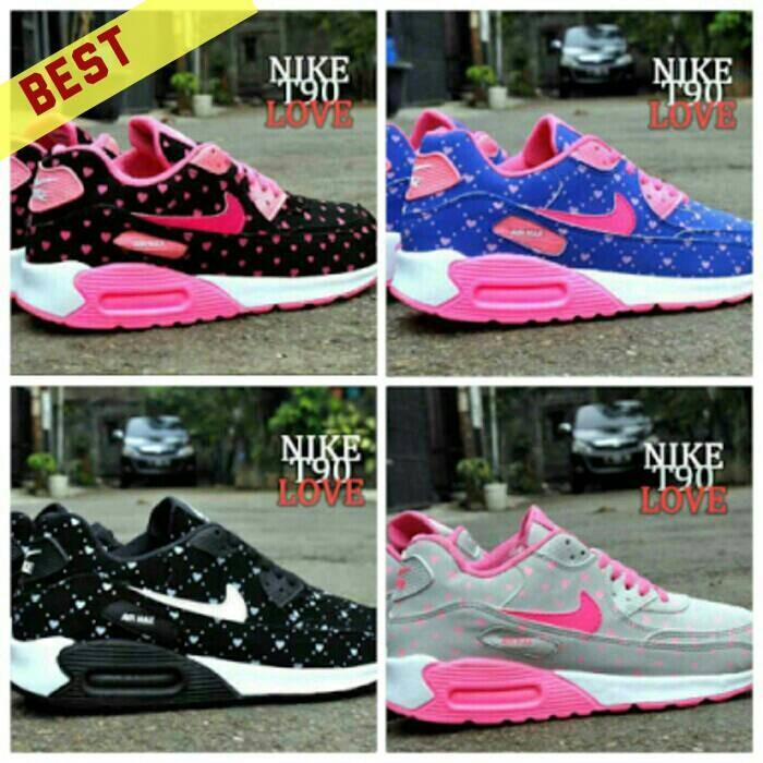 Jual Sepatu Nike Airmax T90 Love Women Untuk Wanita Grade Ori Murah ... 71f379601d