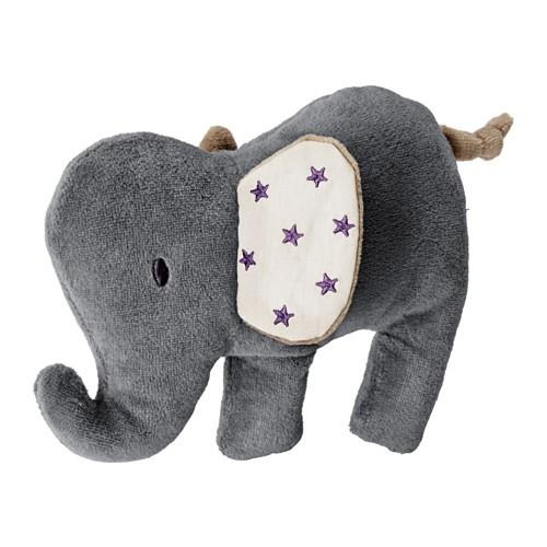 harga Ikea charmtroll mainan boneka berbunyi gajah krem abu-abu Tokopedia.com