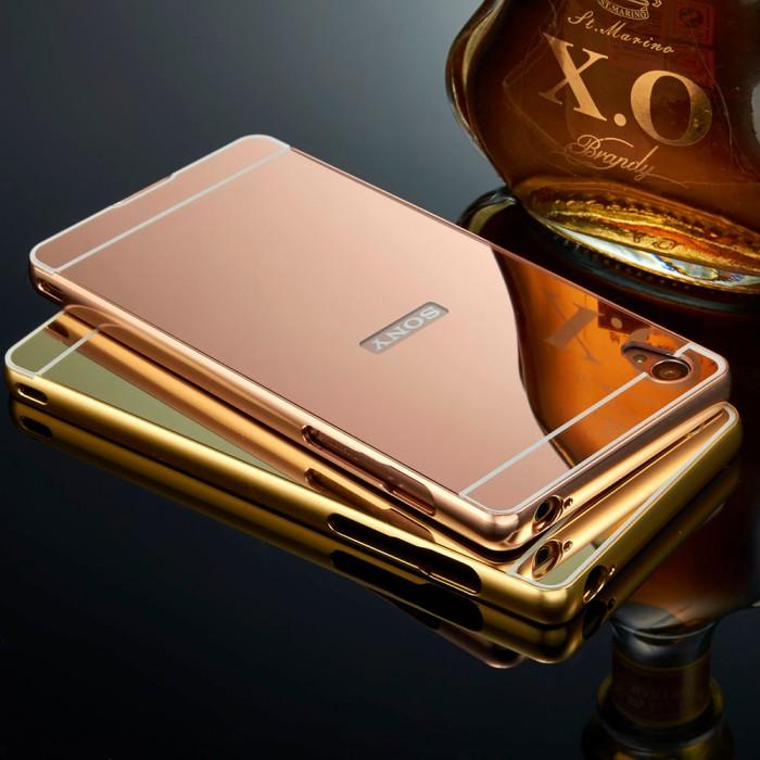Case Sony Xperia M4 Aqua Bumper Slide Mirror Backcase