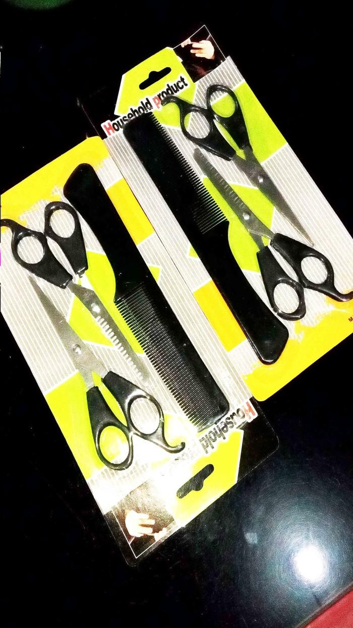 Jual Gunting Rambut SET 3 in 1 Kuning Alat Salon Alat Pangkas Rambut ... 8294701859