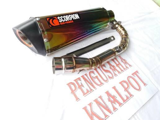 Jual Knalpot Scorpion Rainbow Fullset, Vespa Primavera,, Modern - Kab   Banyumas - PengusahaKnalpot | Tokopedia