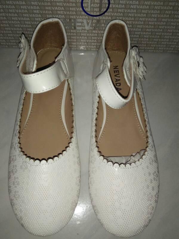 Jual sepatu flat shoes anak cewe perempuan putih merk nevada murah ... 30524e6cd3