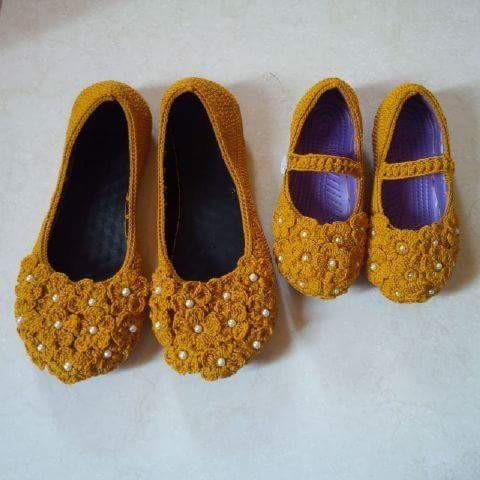 Jual sepatu flat couple rajutan kuning - zahracraf  6b118c77ee
