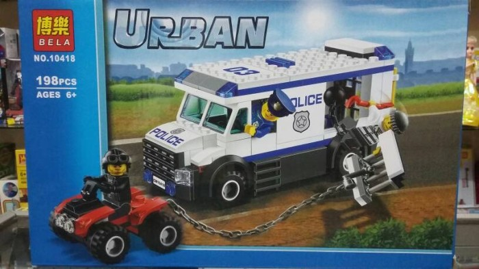 Jual Prisoner Transport Van Bus Blocks Lego City Urban Police Mobil