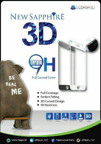 harga Hippo sapphire iphone 6 / iphone 6s full 3d tempered glass black white Tokopedia.com
