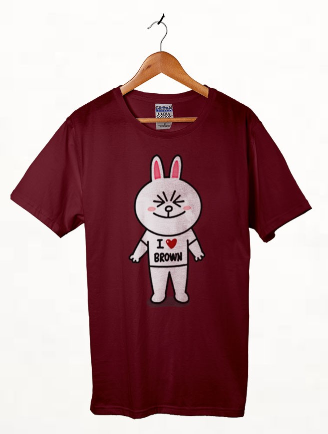 Brown and Cony Line Character 2 t shirt
