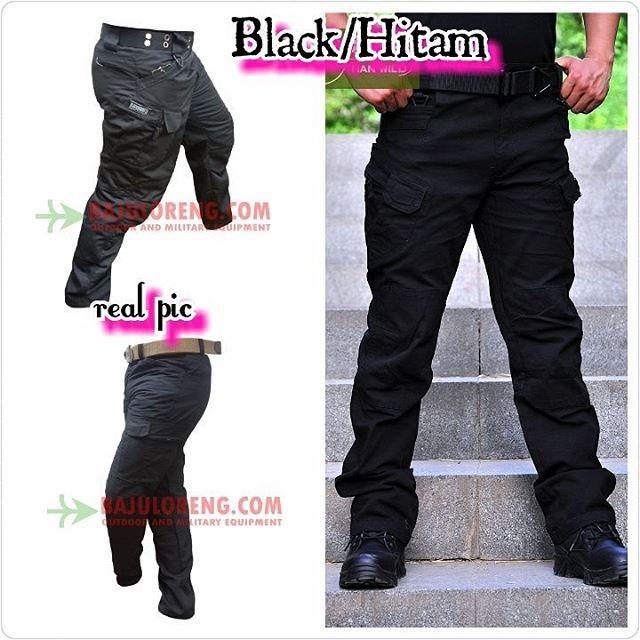 Celana Cargo PDL Tactical Blackhawk Hitam/Black polisi Ganteng Murah