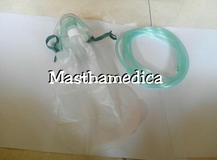 harga Masker Oksigen Sungkup O2 Kantung Hi - Oxy Mask Rebreathing Dewasa Tokopedia.com