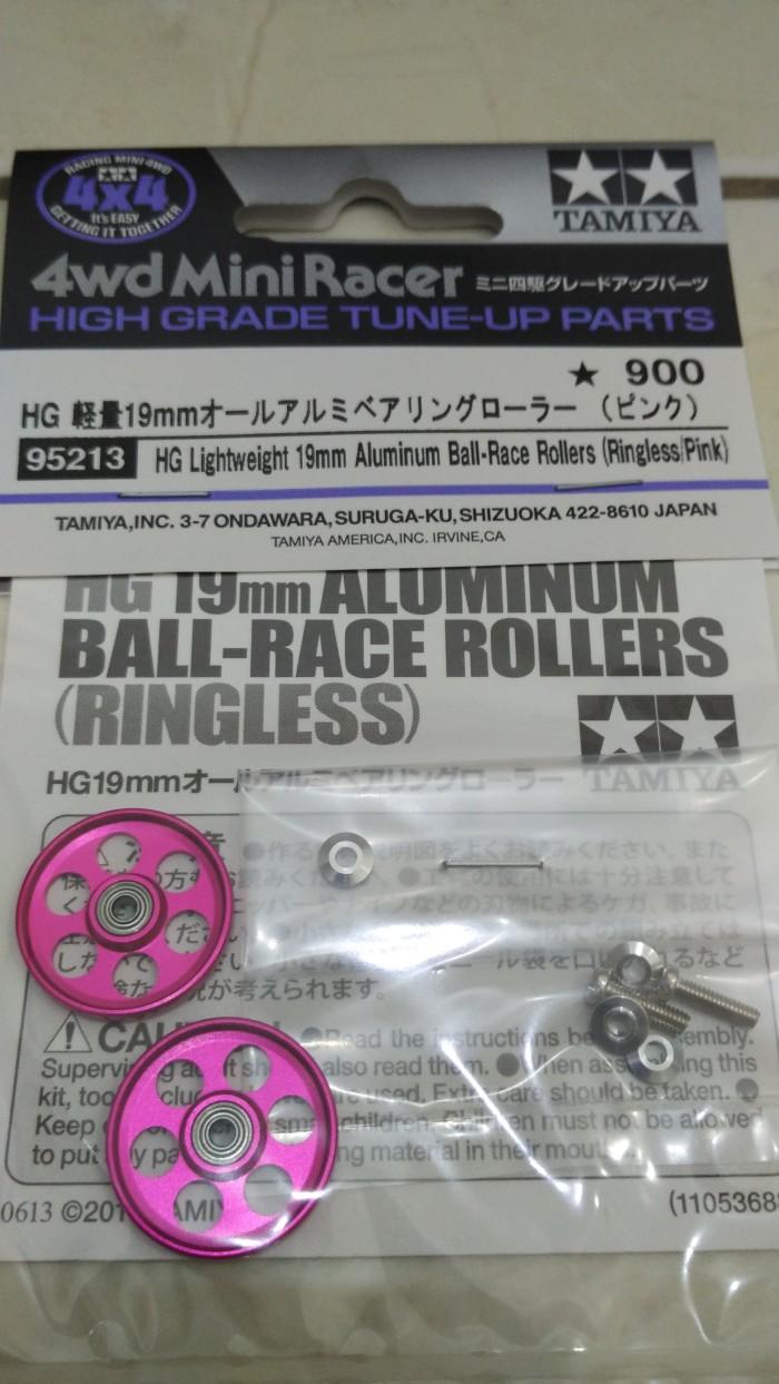 harga Tamiya hg lw 19mm alu ball-race rollers ringless pink Tokopedia.com