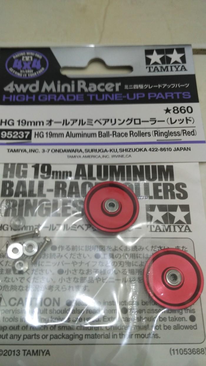 harga Tamiya hg 19mm alu ball-race rollers ringless red Tokopedia.com