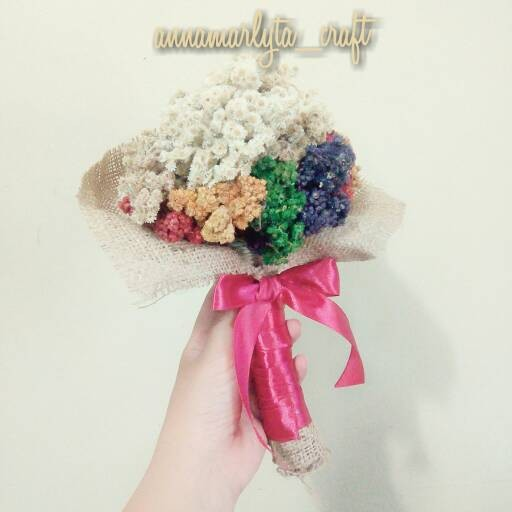harga Bunga edelweis buket (burlap+pita satin merah) Tokopedia.com