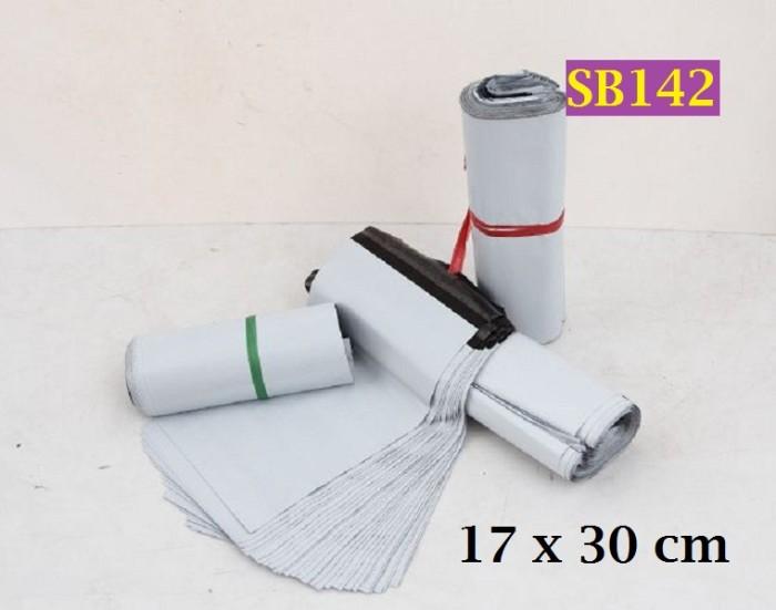 Foto Produk Amplop Plastik ukuran 17 x 26+4cm Warna Putih Poly Mailers - SB142 dari Helfia Store