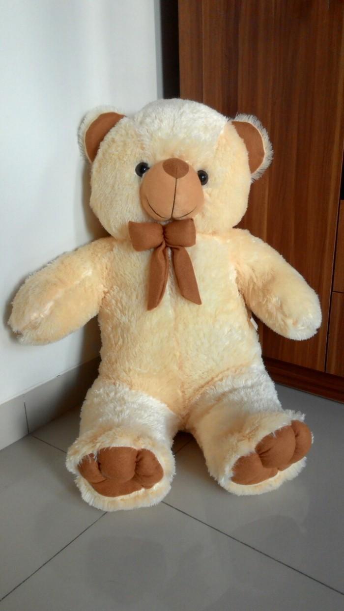 Jual Boneka Teddy Bear Cream Besar 1 Meter. Bandung - Cimahi ... dd865080e3