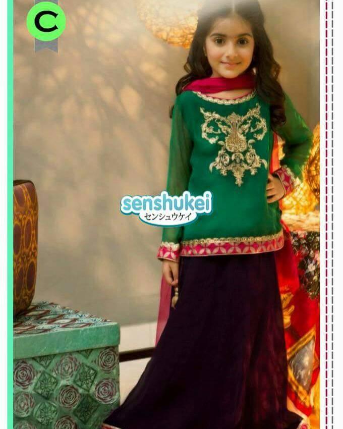Jual Baju Anak Cewe Model Sari India Green 1set Size Besar Kenkei