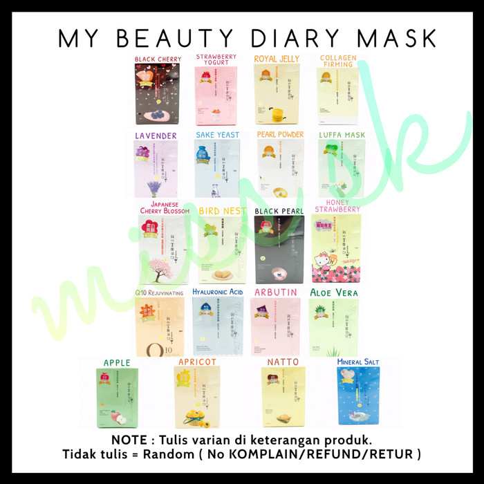 Jual [ SACHET ] My Beauty Diary Face Mask korea ( masker wajah diary ) -  BIRD NEST - Jakarta Barat - Supplier Kosmetik Shop | Tokopedia
