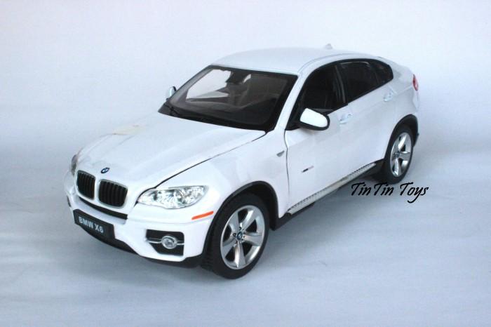 Jual Diecast Replika Miniatur Mobil Bmw X6 White By Rastar 1 24