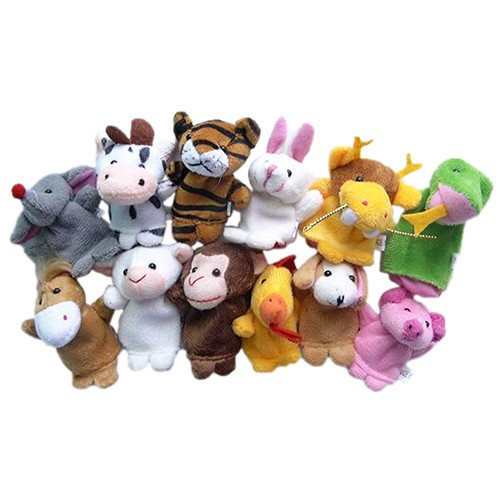 harga 1 set (12 pcs) boneka jari seri animal / binatang Tokopedia.com