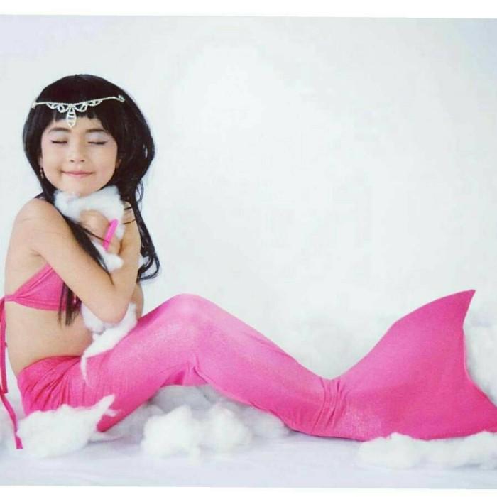 harga Mermaid set polos size l/baju renang putri duyung untuk 23-30kg/8-10th Tokopedia.com