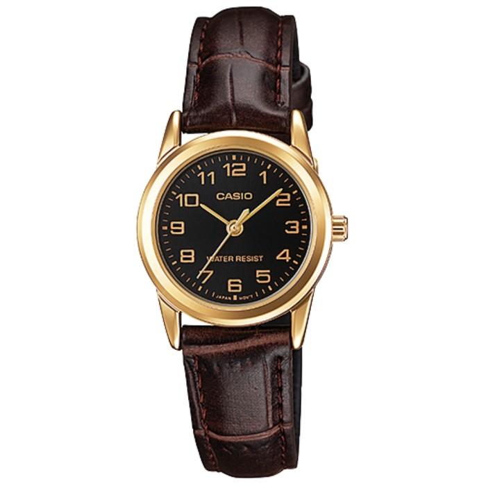 harga Casio analog jam tangan wanita kulit ltp-v001gl-1b original Tokopedia.com