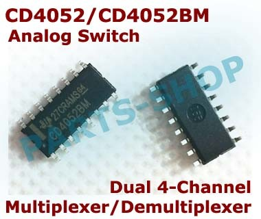 10/ Pc SOP 16/ CD4052/ Dual 4/ Kanaals Analog Multiplexer Demultiplexer