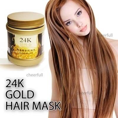 ... Masker Rambut 24k - 24k Active Gold Repair Hot Oil 500ml