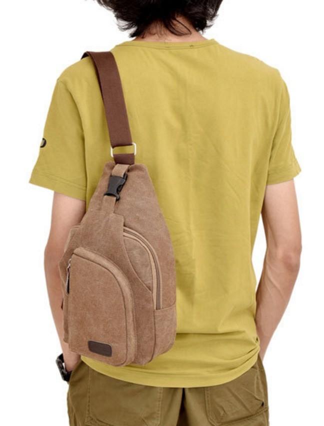 Men Sling Shoulder Bags / Bodypack Bag Tas Selempang Pria Bahan Jeans .