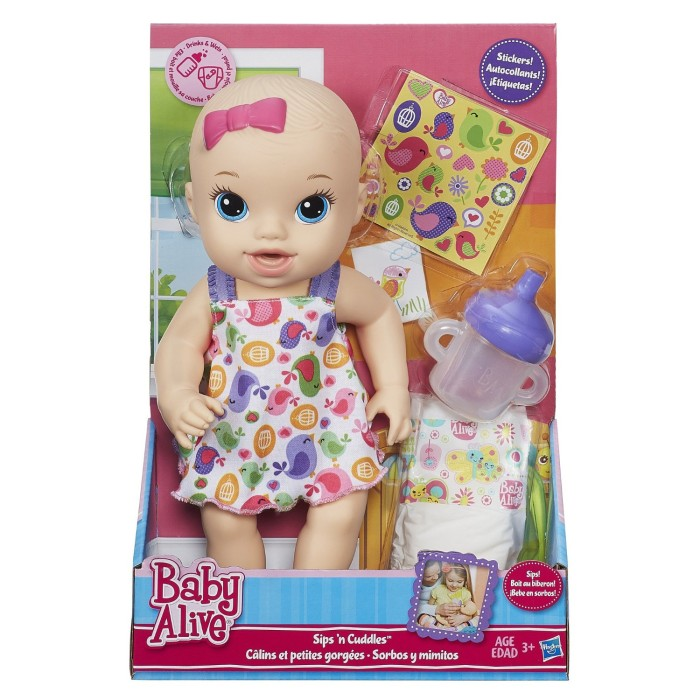 harga Baby alive sips n cuddles / boneka baju putih Tokopedia.com