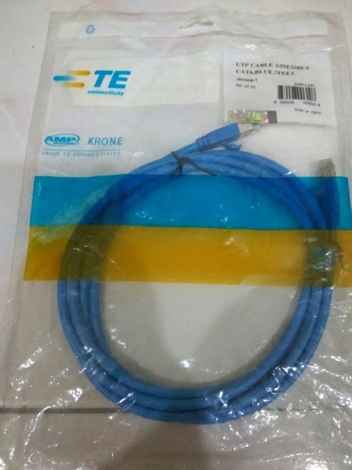 harga Networking cable amp cat6 2m  utp original kabel - amp-1859008-7 Tokopedia.com