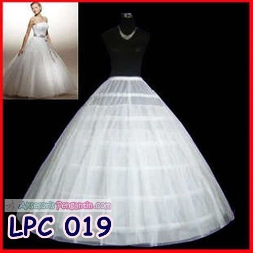 harga Petticoat Wedding Gown-rok Pengembang Gaun Pengantin6ring2layer-lpc019 Tokopedia.com